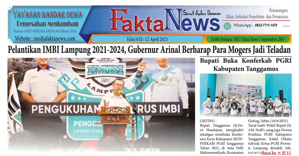 FAKTA NEWS Edisi 632 -12 April 2021